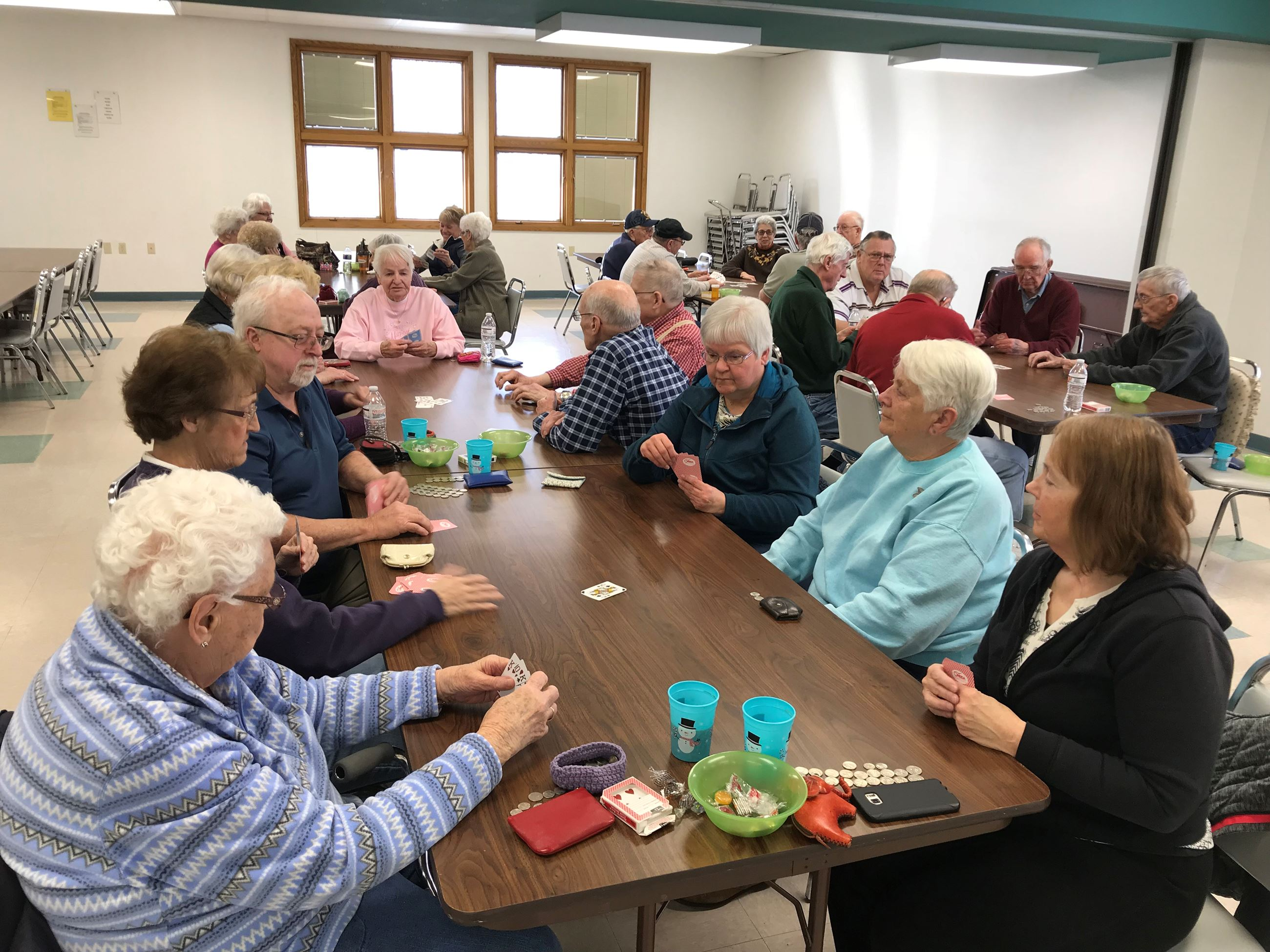 2018 Senior Program - group playing cards